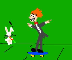 Conan O'Brien tries skateboarding