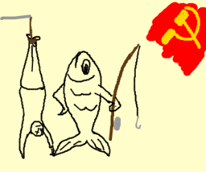 In Soviet Russia fish catches you,
