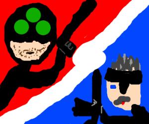 Sam Fisher vs Solid Snake.