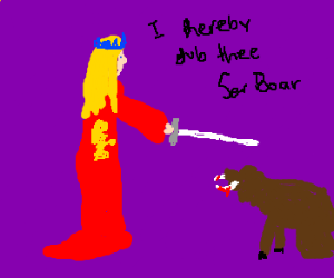 Cersei Knights Boar who kills Robert Baratheon