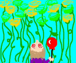 Cellophane flowers of yellow and green drawception cellophane flowers of yellow and green mightylinksfo