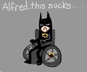 Batman not a fan of being a paraplegic.