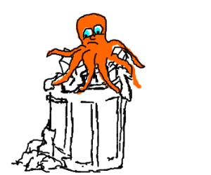 rejected orange octopus