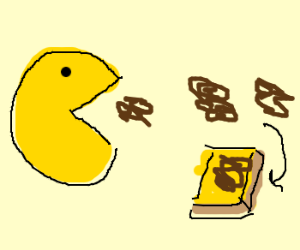 Pacman eating vegemite.