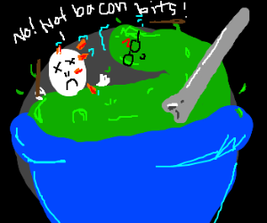 Voldemort dies to a bowl of Harry Peater soup