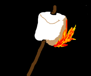 marshmallow on fire once again.