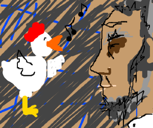 chicken sings to Abraham Lincoln