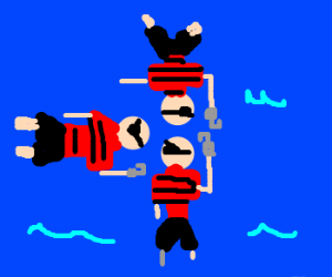 Synchronized swimming pirates
