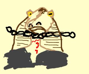 Link about to behead Jar-Jar Binks