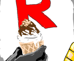 Team Rocket taking a day off, eating ice-cream