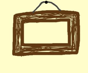 An empty wooden frame