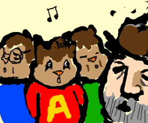 Alvin and the Chipmunks sing with a hobo