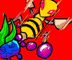 BEEDRILL USED POISON STING (super effective!)