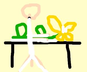 flower at a masseuse.