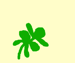 Lucky seven-leaf clover? That's weird...
