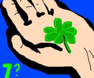 The luckiest clover: a 7-leaf clover.