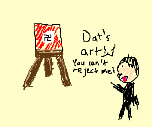 Lil Hitler Gets Rejected From Art School Drawception
