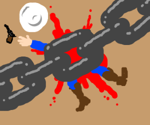 Cowboy gets smashed by giant chain