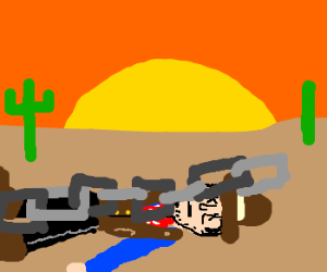 Cowboy squashed to death by giant chain