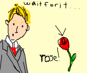 Neil Patrick Harris points out a rose