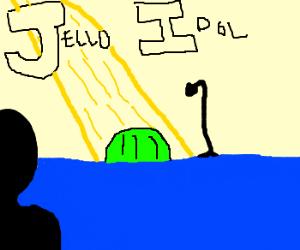 Silhoutte of man judges Jello Idol.