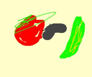 Tomato murders zucchini!