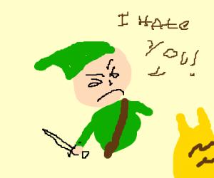 Link hates pokemon