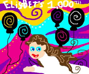 Elisabet's celebration of her 1st millennium!
