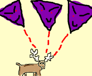 Reindeer killed by triangles for some reason