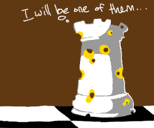 Swiss cheese aspires to be Chess rook