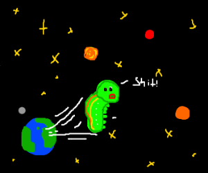 caterpillar jumps too high