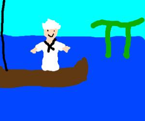 A sailor really likes Pi