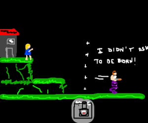 Guy from Contra video game runs away from home