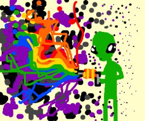 alien zaps weird portal
