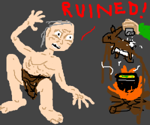 Caveman strongly opposes cooked food.