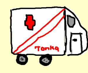ambulance is a tonka toy