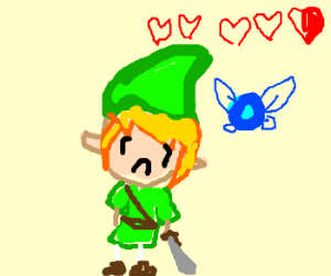 Link is low on hearts