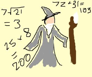 Gandalf does a little wizard math.