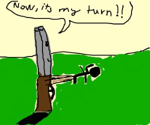 Gun holds man at gun point