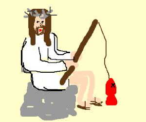 Jesus goes fishing