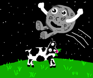 And the moon jumped over the cow.