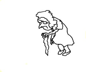 Haggard old lady