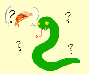 Snake trying to say pizza