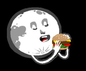Full moon eats a cow