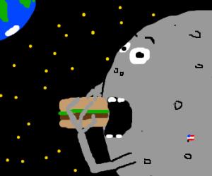The moon loves burgers