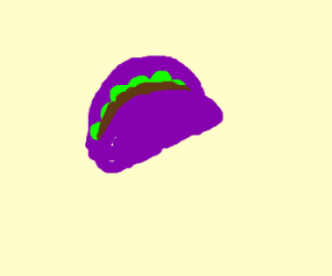 Purple shell taco