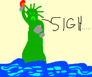 lady liberty has post-partum depression