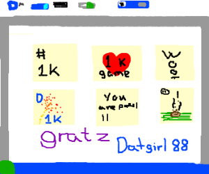 Datgirl88's 1000th DC game - par-TAY!