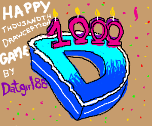 thousandth Drawception game by Datgirl88