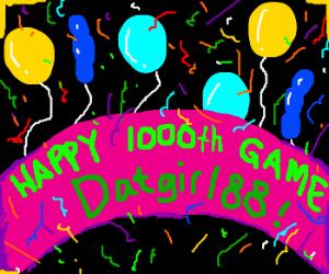 Happy 1000th Drawception Game, Datgirl88!